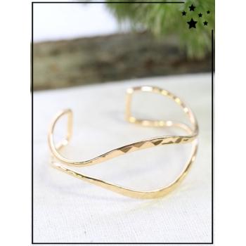 Bracelet jonc - Ouvert - Doré