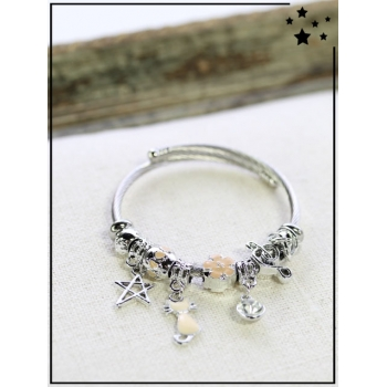 Bracelet charms - Rose nude