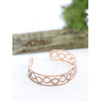 Bracelet jonc - Cercles - Cuivré