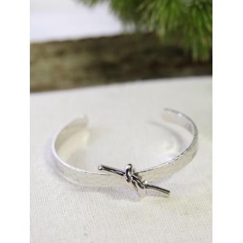 Bracelet jonc - Nœud - Argenté