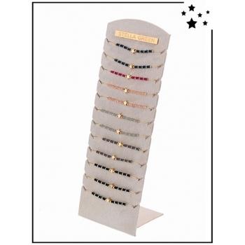 Bracelets pierres naturelles - Présentoir - x24