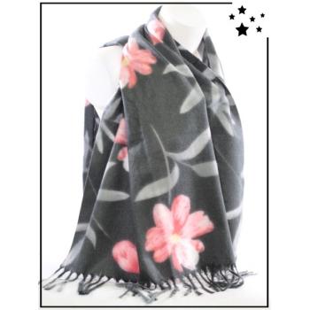 Echarpe - Fleurs - Gris - F628