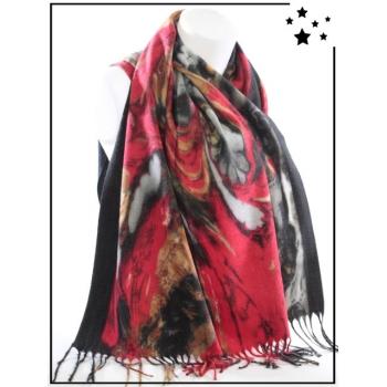 Echarpe - Imprimés fleurs floues - Noir - F634