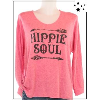 """Pull TU - """"Hippie Soul"""" - Pailleté - Rose"""