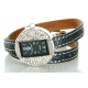 Montre Double-Tour Strass Touché Cuir Yma