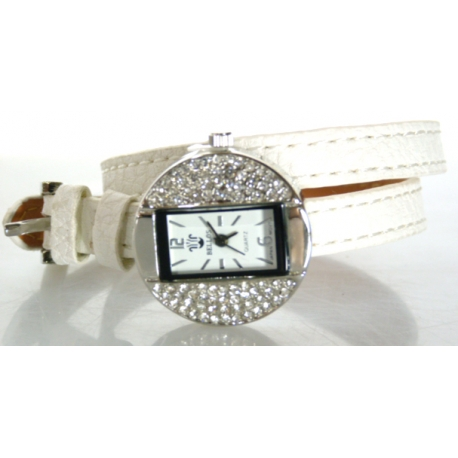 Montre Double-Tour Strass Touché Cuir Ymelda