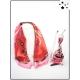 Cocco Box - Carré de soie, bijou de sac et stylo crystal - Rouge