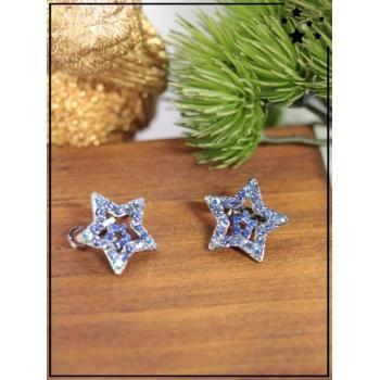 Petite barrette - Petite étoile - Strass - Bleu