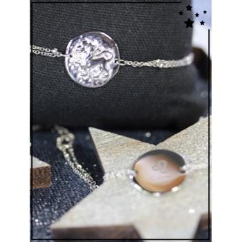 Bracelet zodiaque - Lion - Argenté