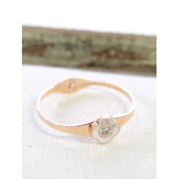Bracelet - Fleur strass - Cuivré