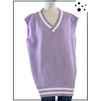 TU - Pull sans manches oversize - Style College - Lilas