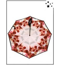 Parapluie inversé - Coquelicots - Rouge