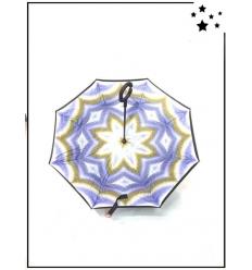 Parapluie inversé - Hippie - Bleu et jaune