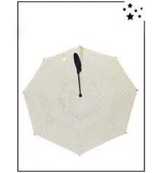 Parapluie inversé - Petit pois - Blanc