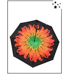 Parapluie inversé - Grande fleur - Rouge
