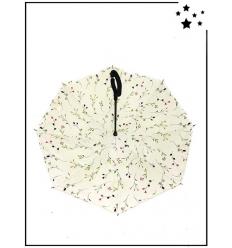 Parapluie inversé - Motif végétal - Blanc