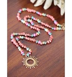 Sautoir - Perles et soleil - Multi