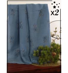 Foulard touches brillantes x2 - Attrape-rêve - Bleu jean