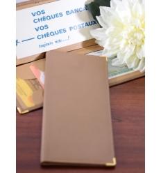 Porte chéquier postal - Taupe