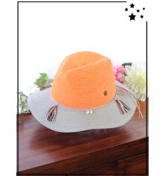 Chapeau - Coquillages et pampilles - Orange