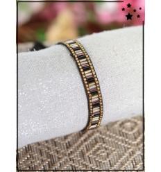 Bracelet perles multicolores - Noir