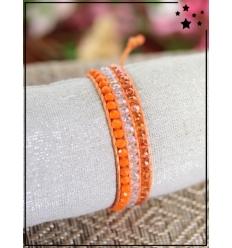 Bracelet perles tissé - Orange