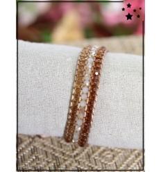 Bracelet perles tissé - Choco