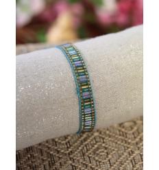 Bracelet perles multicolores - Turquoise