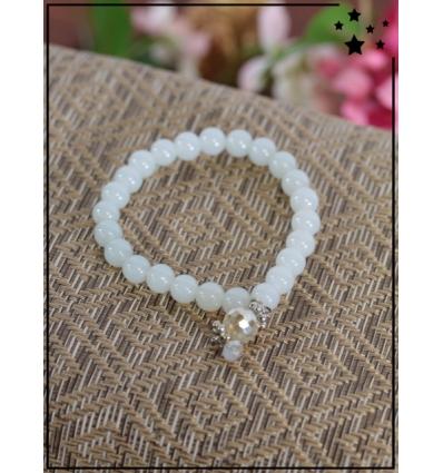 Bracelet - Perles - Breloque avec perles transparentes - Perle