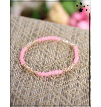Bracelet - Perles - Bi-color - Rose