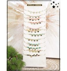 Bracelets x 12 - Perles et breloques - Coloris variés