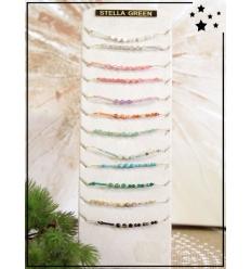 Bracelets x 12 - Perles - Coloris variés