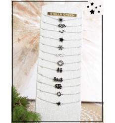 Bracelets x 12 - Pendentifs - Argenté