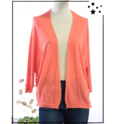 TU max 44 - Gilet ouvert - Manches 3/4 - Corail