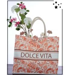 Sac de plage - Tote book - Dolce Vita - Orange