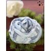 Foulard court - Soie et coton - Cercles - Ciel