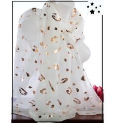 Foulard touches brillantes - Imprimé animalier - Blanc