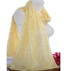 Foulard touches brillantes - Pépites dorées - Jaune