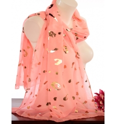 Foulard touches brillantes - Imprimé animalier - Rose vif