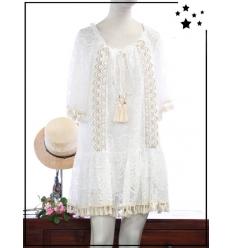 OPL - TU - Robe bohème - Blanc