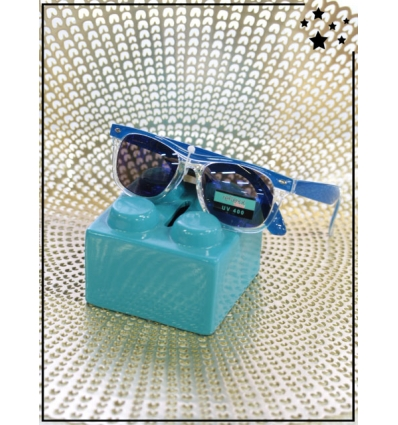 Lunette de soleil enfant - CE - UV400 - Bleu électrique