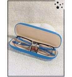 Lunette loupe de lecture et boitier - CE - +1.00 à +3.00 - Bleu