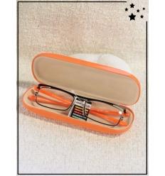 Lunette loupe de lecture et boitier - CE - +1.00 à +3.00 - Orange