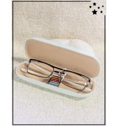 Lunette loupe de lecture et boitier - CE - +1.00 à +3.00 - Blanc