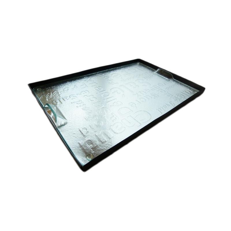 plateau verre tremp relief 27x40cm cocconelle. Black Bedroom Furniture Sets. Home Design Ideas