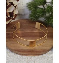 Bracelet jonc - Carré - Doré