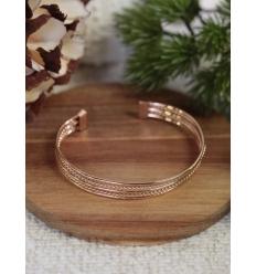 Bracelet jonc - Petites torsades - Cuivré