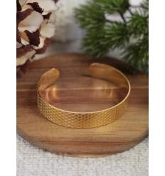 Bracelet jonc - Façon ruche - Doré