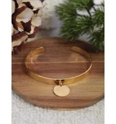 Bracelet jonc - Breloque - Doré