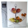 Coupe Fruits Chrome 2 Étages 35x40cm